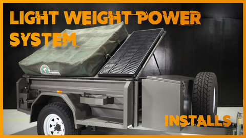 A Light Weight Camper Trailer with a custom install for a light load.