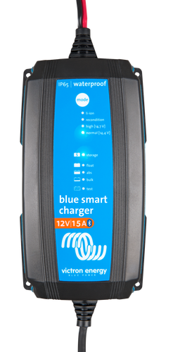 Victron Blue Smart IP65 12V 15A Charger With Clear Background