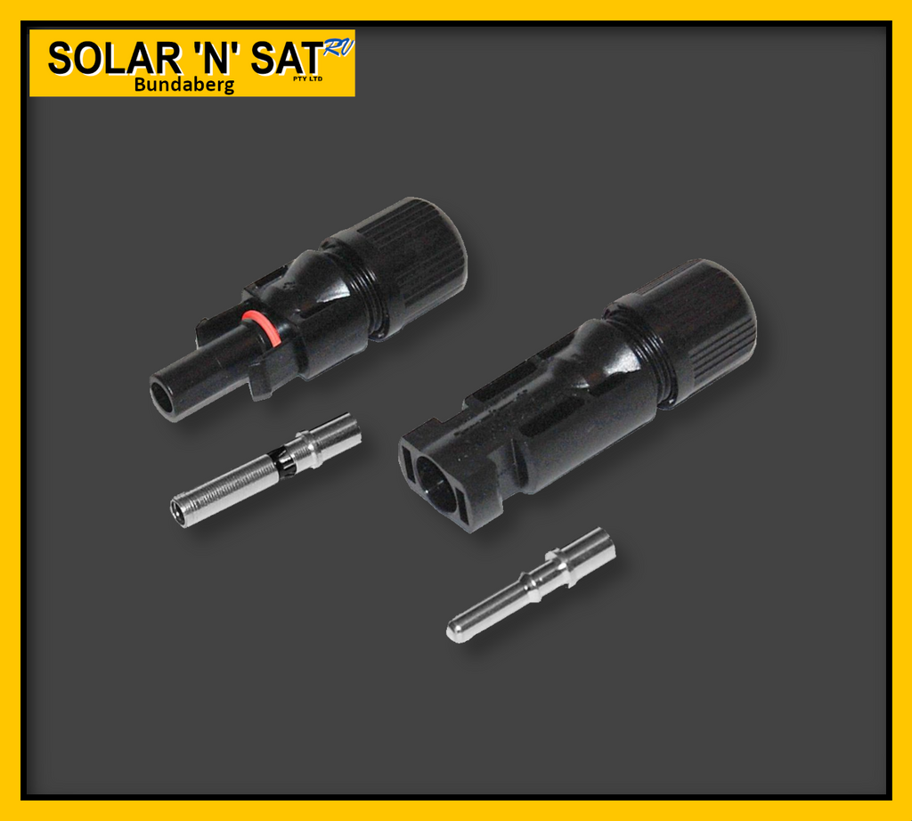 MC4 Solar Connectors (Pair) 1 Male & 1 Female