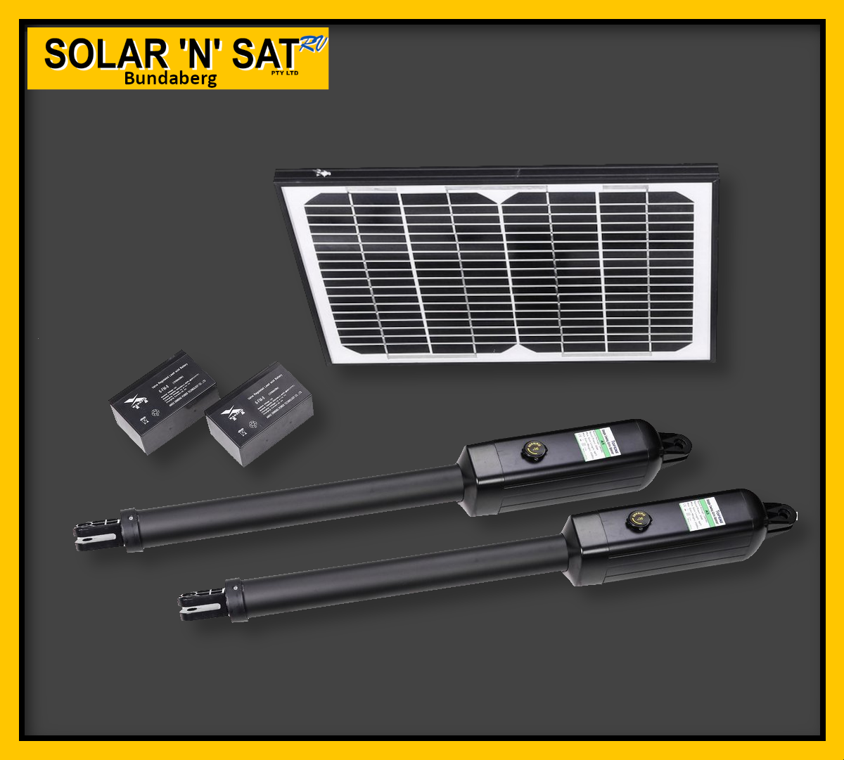 Solar Gate Opener Double (New Model)