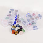 10 Pc Box of Chakra Tumbled Gemstones