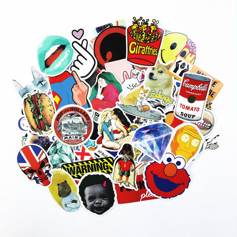 100 Pack Cartoon Laptop Stickers