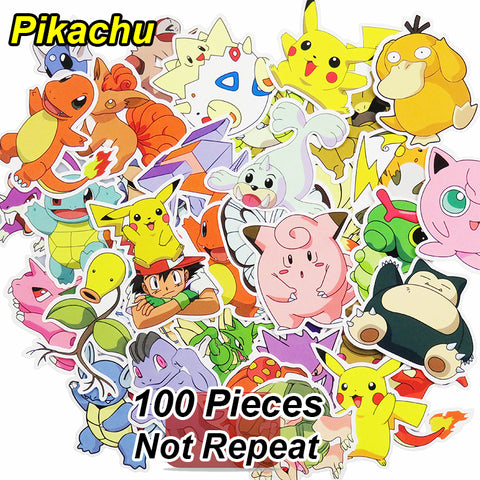 100 Pcs Pikachu Stickers