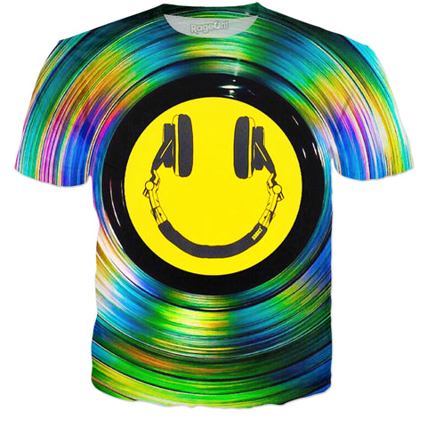 Headphone Smiley T-Shirt