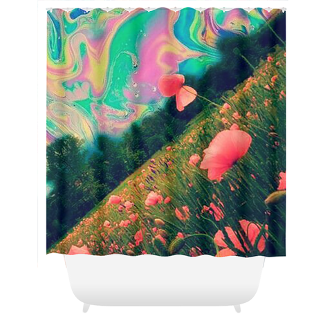 Pink Vision Shower Curtains