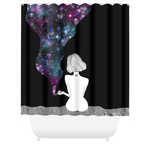 Space Bud Shower Curtains