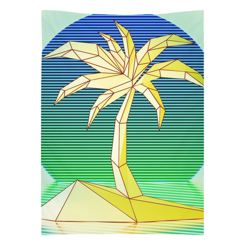 Geometric Palm Set Tapestry