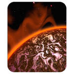 Fire Planet Mouse Pad