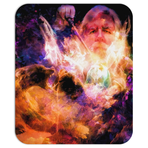 Bear Wizard Mouse Pad