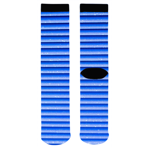 Blue Glitter Stripes Socks