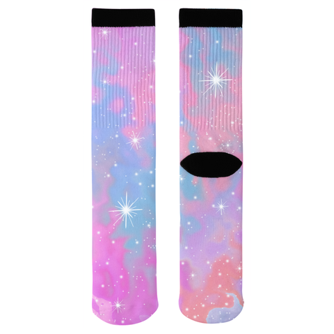 Cotton Candy Stars Socks
