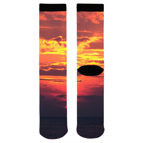 Orange Sunset Socks