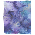 Purple Watercolor Blanket