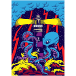 Octopus Lighthouse Poster