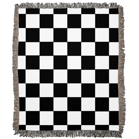 Checkered Woven Blanket