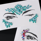 Adhesive Glitter Face Stickers