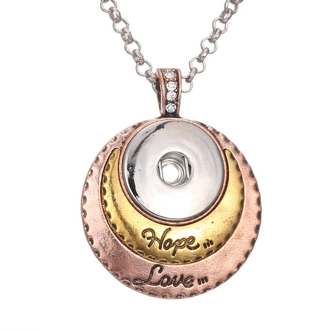 Hope/Love Snap necklace
