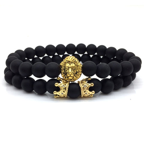 2pcs/set Lion Crown Bracelet