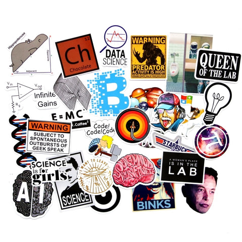 30 PCS Chemistry Lab Stickers