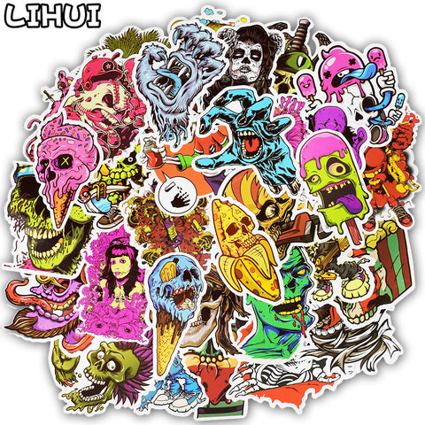 50pcs Terror Graffiti Stickers