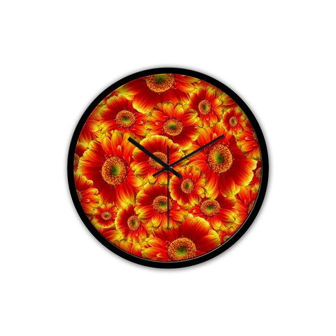 Bright Flowers Clock