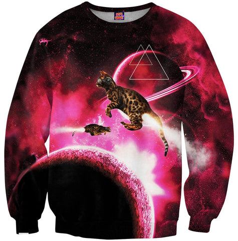 Space Cat Blast Sweatshirt
