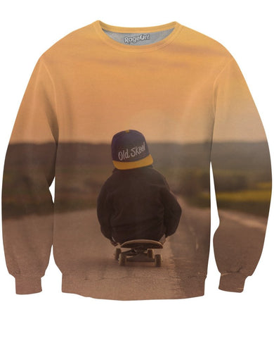 Skateboard Kid Crewneck Sweatshirt