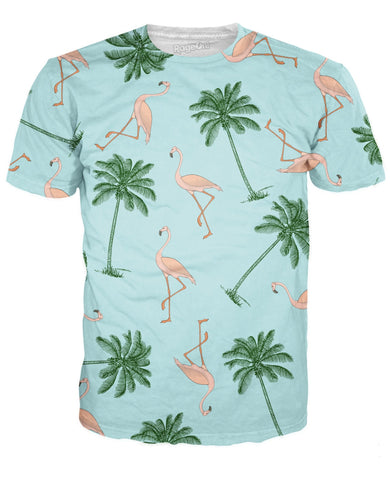 Flamingos and Palm Trees T-Shirt
