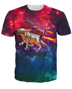Pocket Space Foxes T-Shirt