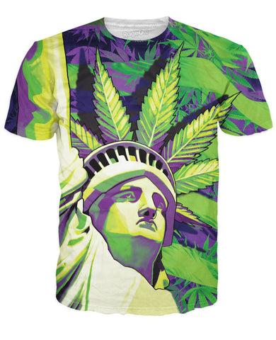 Smoking Lady Liberty T-Shirt