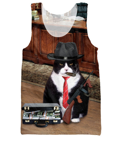 Mafia Boss Cat Tank Top