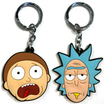 Cartoon Rick and Morty key chain