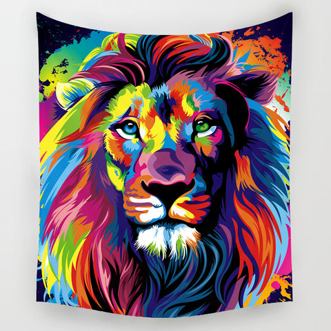 Colored African Animals Series Tapestries