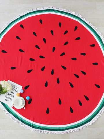 Fun Large Round  Microfiber Beach Towel Tapestries