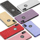 Eqvvol Fashion Glitter Plating Phone Case For iPhone XS XR MAX X 8 7 6 6s Plus Ultra-thin TPU Cases 360 Degree Protector Cover
