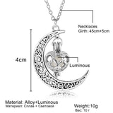 Glowing Moon Necklace Charm