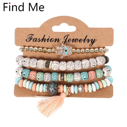 Ethnic multilayer beads Bracelets
