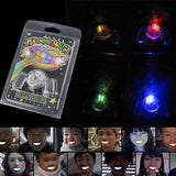 Flashing LED Light Up Mouth Braces Piece Glow Teeth For Halloween Party Rave Festive Party Supplies