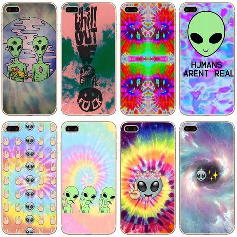 Trippy Tie Dye Peace Transparent Phone Case
