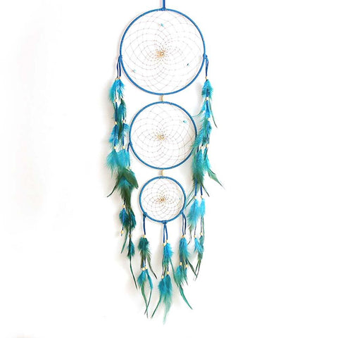 Lace Dream Catcher Feather Flowers