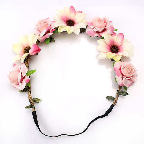 Bohemian Flower Crown Accessory