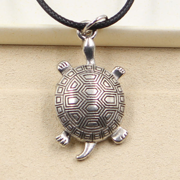 Silver tortoise turtle Necklace Choker