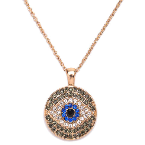 Blue Turkey Evil Eye Necklace