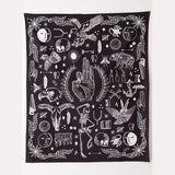 Eagle Bear Rose Flower Tapestry