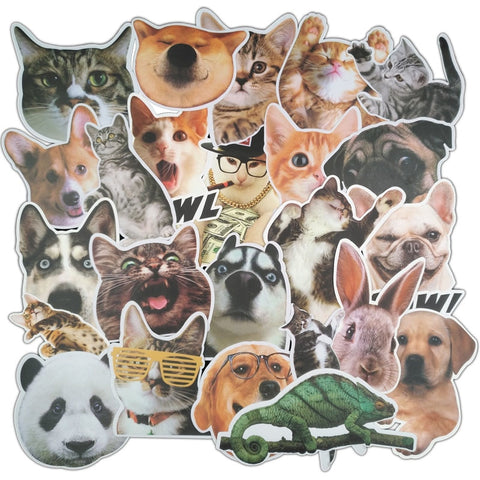 24Pcs Cute Pets Stickers
