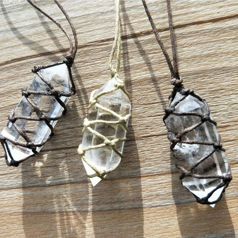 White Natural Crystal Pendant