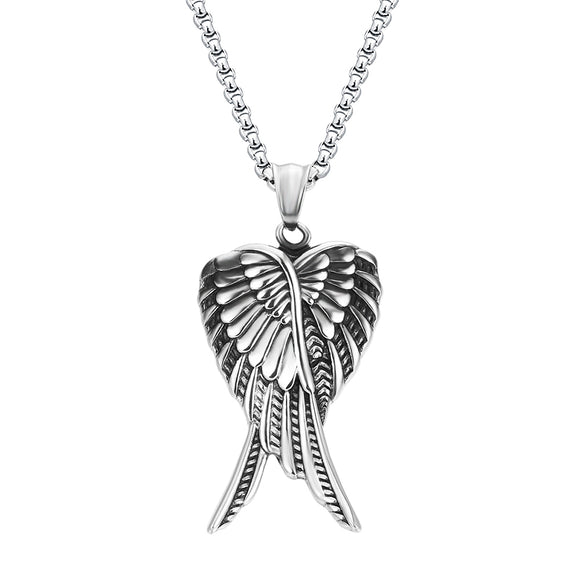 Stainless Steel Angel Wings Necklace