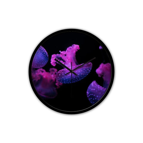 Purple Jellyfish Clock