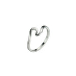 Simple Silver Wave Ring Accessory