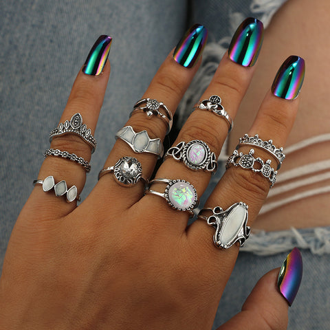 Vintage Opal Knuckle Ring Accessory Set